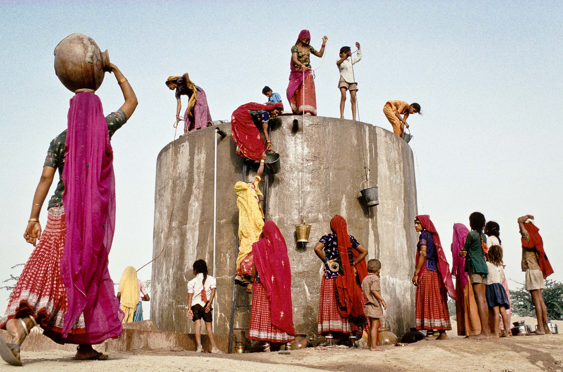 Collecting Water, Rajasthan 1991