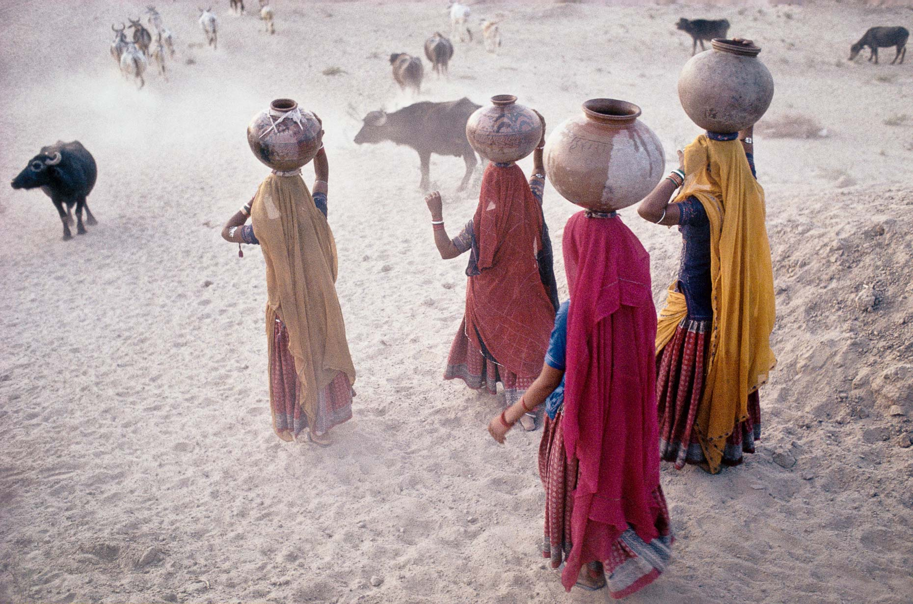 Women Collecting Water, No2, Rajasthan - India