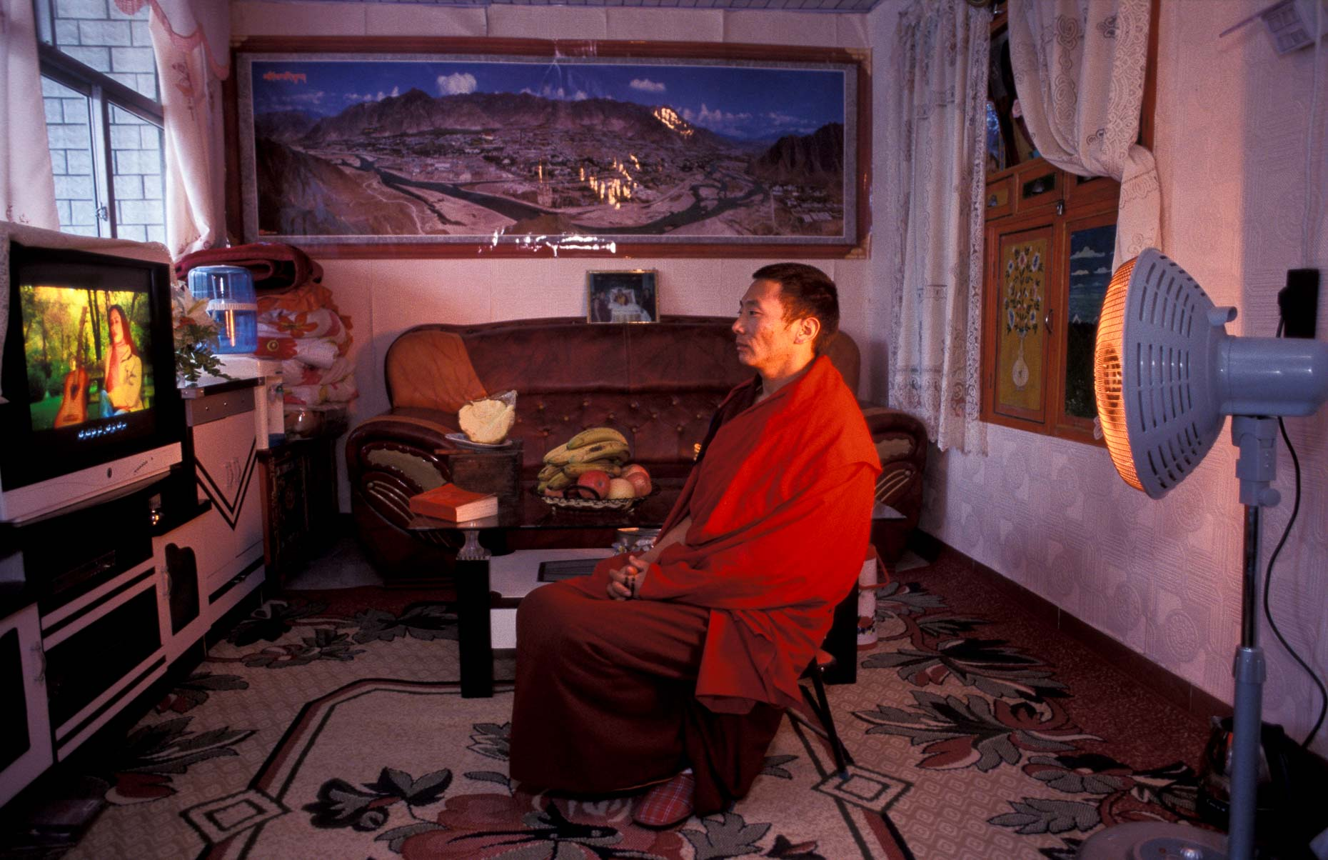 Tibetan monk watches dvd.